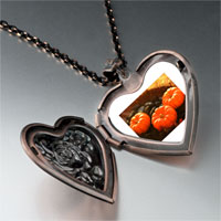 Necklace & Pendants - jack o lantern halloween pumpkin toys heart and rose pendant Image.