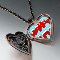 Necklace & Pendants - happy xmas heart locket pendant necklace Image.