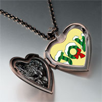Necklace & Pendants - snow covered joy heart locket pendant necklace Image.