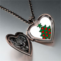 Necklace & Pendants - christmas necklace red heart christmas tree gifts heart locket pendant necklace Image.