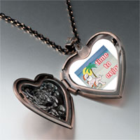 Necklace & Pendants - santa at beach heart locket pendant necklace Image.
