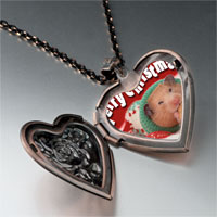 Necklace & Pendants - christmas hamster cookie heart locket pendant necklace Image.