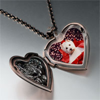 Necklace & Pendants - puppy christmas gift heart locket pendant necklace Image.