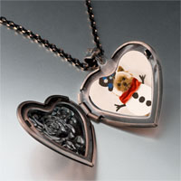 Necklace & Pendants - jewelry puppy christmas gifts snowman heart locket pendant necklace Image.
