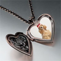Necklace & Pendants - shaggy santa dog heart locket pendant necklace Image.