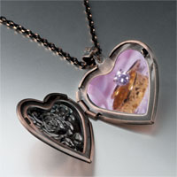 Necklace & Pendants - wedding ring heart locket pendant necklace Image.