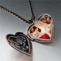 Necklace & Pendants - christmas gift kittens heart locket pendant necklace Image.