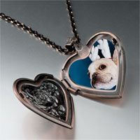 Necklace & Pendants - dog christmas rudolph reindeer heart locket pendant necklace Image.