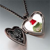 Necklace & Pendants - santa frog heart locket pendant necklace Image.