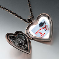Necklace & Pendants - jewelry merry xmas christmas gifts snowman heart locket pendant necklace Image.