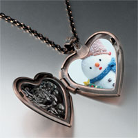 Necklace & Pendants - jewelry christmas gifts snowman tree heart locket pendant necklace Image.