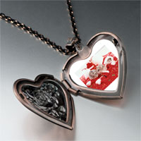 Necklace & Pendants - christmas mice heart locket pendant necklace Image.