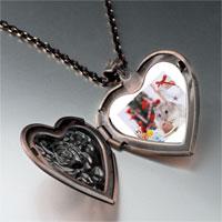 Necklace & Pendants - mouse christmas party heart locket pendant necklace Image.