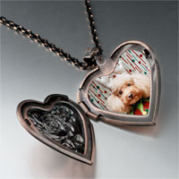 Necklace & Pendants - christmas jester dog heart locket pendant necklace Image.