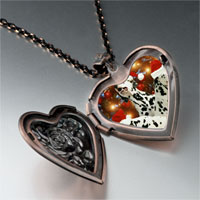 Necklace & Pendants - christmas dalmatian dogs heart locket pendant necklace Image.