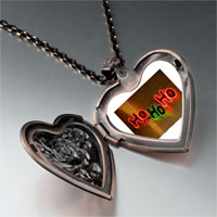 Necklace & Pendants - ho christmas lights heart locket pendant necklace Image.