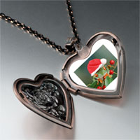 Necklace & Pendants - holly hopping santa frog heart locket pendant necklace Image.