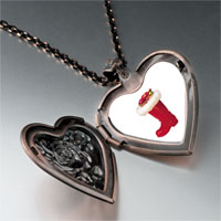 Necklace & Pendants - christmas ornament boot heart locket pendant necklace Image.