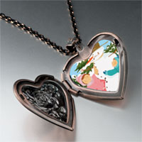 Necklace & Pendants - jewelry making christmas gifts snowman heart locket pendant necklace Image.