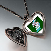 Necklace & Pendants - snowboard bunny heart locket pendant necklace Image.