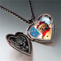 Necklace & Pendants - jewelry christmas gifts snowman in heart locket pendant necklace Image.