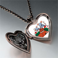 Necklace & Pendants - mice eating gingerbread man cookie heart locket pendant necklace Image.