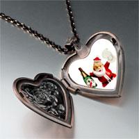 Necklace & Pendants - champagne santa heart locket pendant necklace Image.