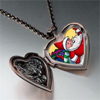 Necklace & Pendants - santa gifts heart locket pendant necklace Image.