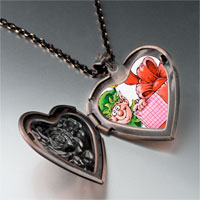 Necklace & Pendants - santa gift helper heart locket pendant necklace Image.