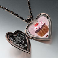 Necklace & Pendants - heart topped cupcake heart locket pendant necklace Image.