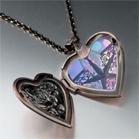 Necklace & Pendants - christmas star heart locket pendant necklace Image.