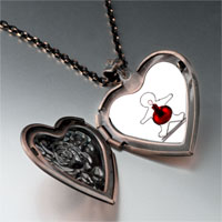Necklace & Pendants - gingerbread man christmas ornament heart locket pendant necklace Image.