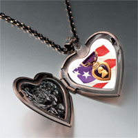 Necklace & Pendants - american flag purple heart heart locket pendant necklace Image.