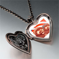 Necklace & Pendants - patriotic soldier memorial heart locket pendant necklace Image.