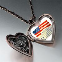 Necklace & Pendants - american flag whitehouse heart locket pendant necklace Image.