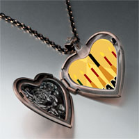Necklace & Pendants - kwanzaa kinara candles holiday heart locket pendant necklace Image.