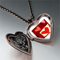 Necklace & Pendants - paper cutout hearts heart locket pendant necklace Image.