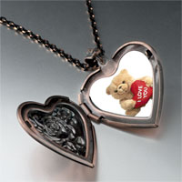 Necklace & Pendants - i love bear heart locket pendant necklace Image.