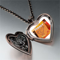 Necklace & Pendants - turkey card heart locket pendant necklace Image.
