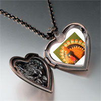 Necklace & Pendants - thanksgiving halloween candy turkey heart locket pendant necklace Image.