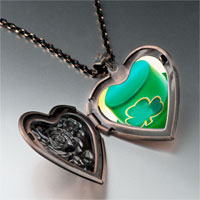 Necklace & Pendants - ireland shamrock hat heart locket pendant necklace Image.