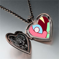 Necklace & Pendants - love heart puzzle heart locket pendant necklace Image.