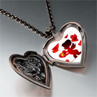 Necklace & Pendants - cupid hearts heart locket pendant necklace Image.