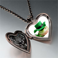 Necklace & Pendants - patricks day frog heart locket pendant necklace Image.