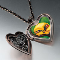 Necklace & Pendants - yellow school bus photo heart locket pendant necklace Image.
