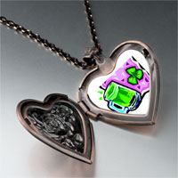 Necklace & Pendants - green beer brooch heart locket pendant necklace Image.
