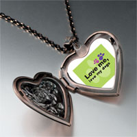 Necklace & Pendants - love dogs heart locket pendant necklace Image.