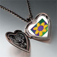 Necklace & Pendants - quilted flower heart locket pendant necklace Image.