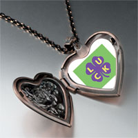 Necklace & Pendants - luck on a purple clover heart locket pendant necklace Image.