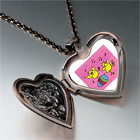 Necklace & Pendants - easter birds singing heart locket pendant necklace Image.